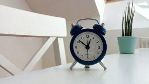 Classic alarm clock on a table